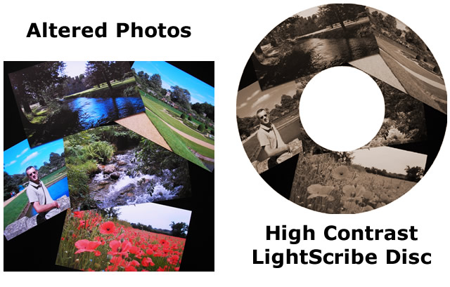 High Contrast LightScribe Label