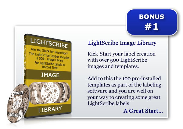 LightScribe Template Image Library