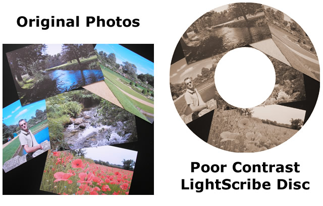 Low Contrast LightScribe Label