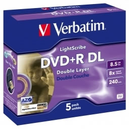 Verbatim Double Layer LightScribe Media