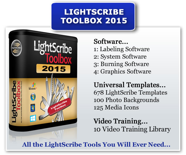 Your LightScribe Toolbox 2015 Contains...
