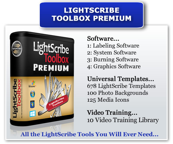 Your LightScribe Toolbox Premium Contains...